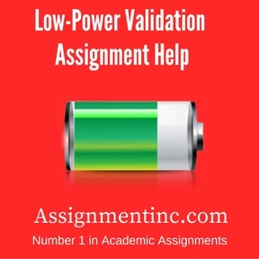 Low-Power Validation Assignment Help