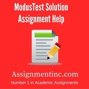 ModusTest Solution Assignment Help