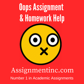 Oops Assignment Help